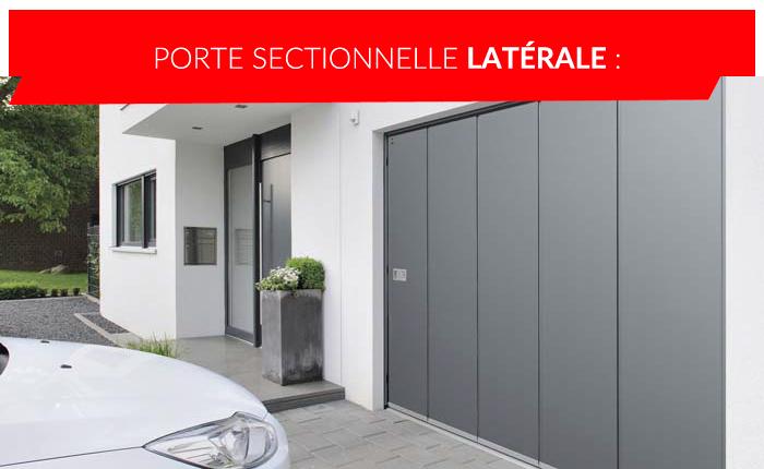 Porte de garage sectionnelle latérale à Liège